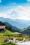 Picturesque Relaxing Point To Relax In The Alps Stock Photography