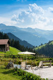 Picturesque Relaxing Point To Relax In The Alps Royalty Free Stock Photo