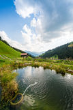 Picturesque Relaxing Point To Relax In The Alps Royalty Free Stock Images