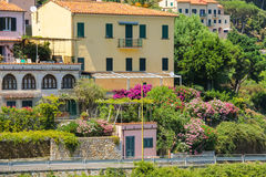 Picturesque residential houses on the hill on Elba Island Stock Photos