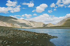 Picturesque river in Tibet Stock Photography