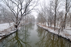 Picturesque river in winter Stock Image