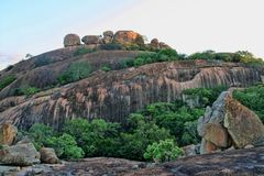 Picturesque rock formations of the Matopos National Park, Zimbabwe. The picturesque rock formations of the Matopos National Park, Zimbabwe stock photography