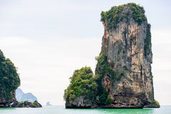 A picturesque rocky bay overlooking the horizon on a sunny day i. N Thailand Stock Photo