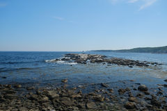 Picturesque Rocky Coastline Stock Images