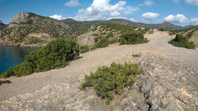 Picturesque rocky high mountains in Crimea Royalty Free Stock Photography