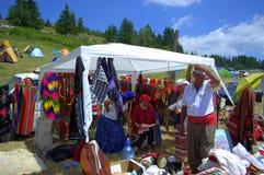 Picturesque Rodopian market vendor,Bulgaria Stock Image