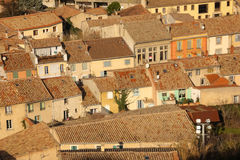 Picturesque rooftops in the village. Carcassonne. France Royalty Free Stock Photos