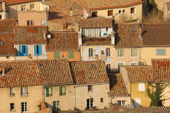 Picturesque rooftops in the village. Carcassonne. France Stock Images