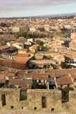 Picturesque rooftops in the village. Carcassonne. France Royalty Free Stock Photo