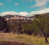 Picturesque Rossel town. Spain Royalty Free Stock Images