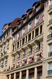 Picturesque Royal Barriere hotel in Deauville in Normand Stock Photos