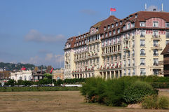 Picturesque Royal Barriere hotel in Deauville in Normand Royalty Free Stock Photo