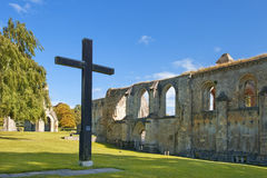 Picturesque ruins of Glastonbury Abbey, Somerset, England Stock Images