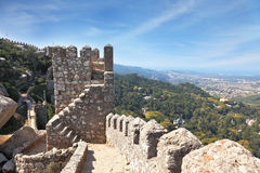 The ruins of the Moorish fortress Royalty Free Stock Photo