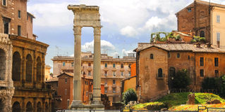 The picturesque ruins of Rome, Italy Stock Photos