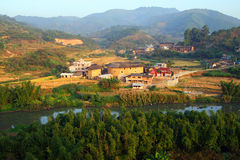 Picturesque rural landscape  in eastern China Stock Image