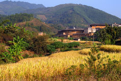 Picturesque rural landscape  in eastern China Stock Photos