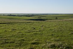 Picturesque rural landscape in summer in Kansas Royalty Free Stock Images