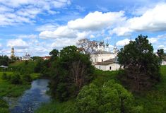 Picturesque rural landscape in Suzdal Stock Photos