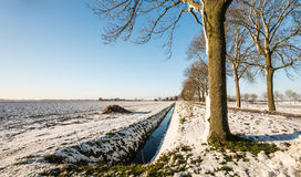 Picturesque rural landscape in the winter season Stock Photos