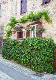 Picturesque rustic street of small french town Royalty Free Stock Image