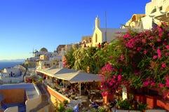 Picturesque Santorini Greece Stock Photography