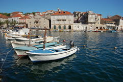 Picturesque Scene From Milna On Brac Island, Croat Stock Photos
