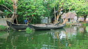 Picturesque scene in Kerala Backwaters Stock Image