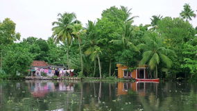 Picturesque scene in Kerala Backwaters Stock Photography