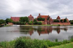 Picturesque scene of Malbork castle in Pomerania region, Poland Royalty Free Stock Image