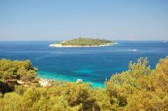 Picturesque Scene Of Lonely Island Near Sibenik, C Royalty Free Stock Photography