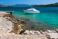 Picturesque scene of rocky adriatic beach Stock Photo