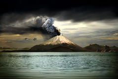 Volcanos and all things related Royalty Free Stock Images