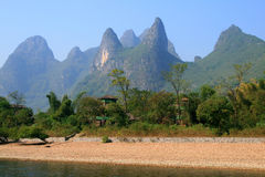 Picturesque scenery on the Li River, Guangxi, Guilin Royalty Free Stock Images