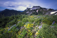 Pacific North West Washington State Hiking Climbing Landscape Waterscape Background. The picturesque scenes of Mt Baker area of Snoqualmie National Forest in Stock Photography