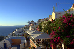 Picturesque scenic view Oia Santorini Stock Photo