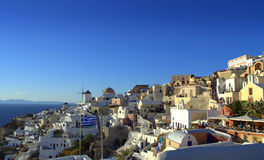 Picturesque scenic view Santorini Greece Stock Photography