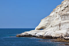 Picturesque sea coast on border of Israel Stock Photo
