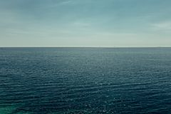 Picturesque sea horizon. Cruise Travel Tourism Summer Vacation C royalty free stock image