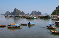 Picturesque sea landscape. Bai tu Long Bay Royalty Free Stock Photography