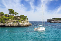 Picturesque sea landscape with bay. Mallorca Royalty Free Stock Photography