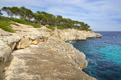 Picturesque sea landscape with bay. Mallorca Stock Photography