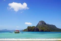 Picturesque sea landscape with boat. El Nido Stock Photo