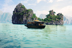 Picturesque Sea Landscape. HaLong Bay, Vietnam Royalty Free Stock Photo