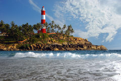 Picturesque sea landscape with  Lighthouse Stock Images