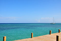 Picturesque sea and pier Stock Images