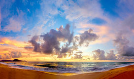 Picturesque sea view with sunset Royalty Free Stock Images