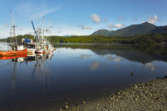 Picturesque seaport in settlement Tofino Royalty Free Stock Photography