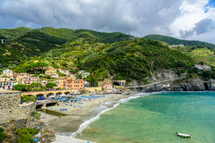 Picturesque seascape of Cinque Terre National Park, Monterosso A Royalty Free Stock Photo